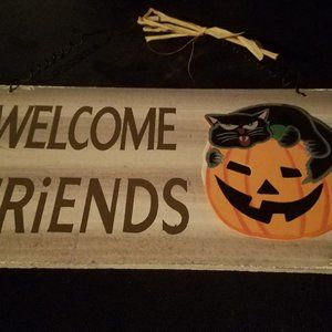 Halloween Welcome Friends Sign Decor